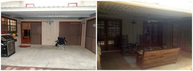 patio before and after